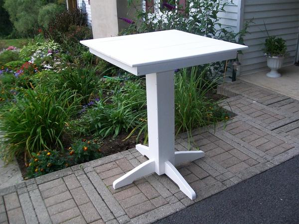 Amish Poly Square Bar Table