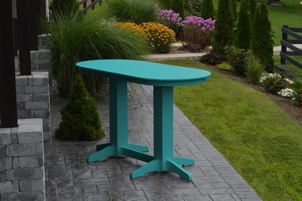 Amish Poly 6' Oval Outdoor Bar Dining Table