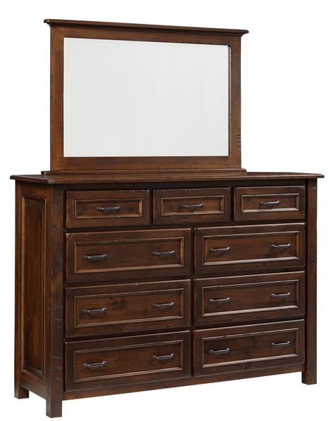 Amish Brisbane Nine Drawer Dresser