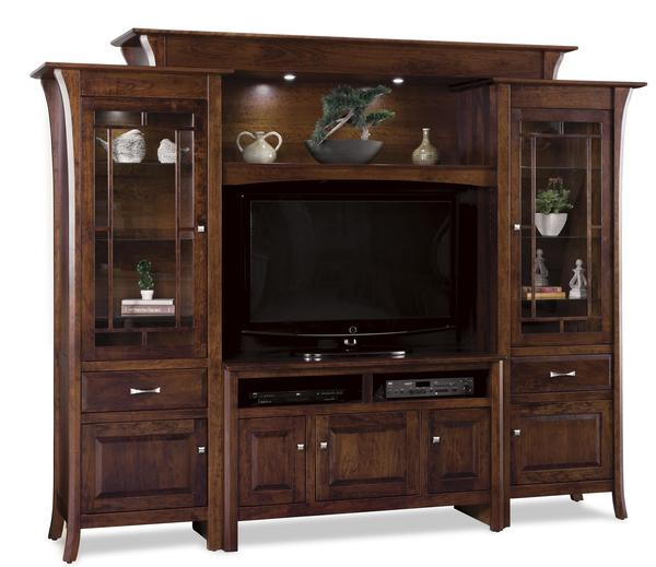 Amish Ensenada Six Piece Entertainment Center Wall Unit
