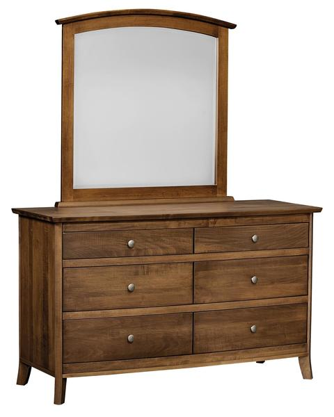 Amish Logan Six Drawer Dresser