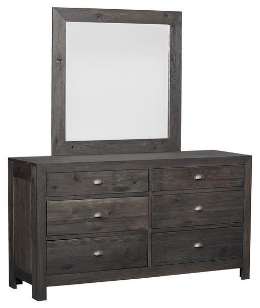 Amish Valencia Six Drawer Dresser