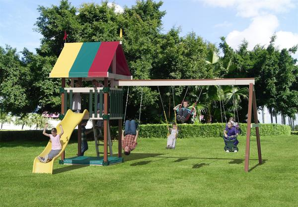 Play Mor Family Favorite Poly Swing Set