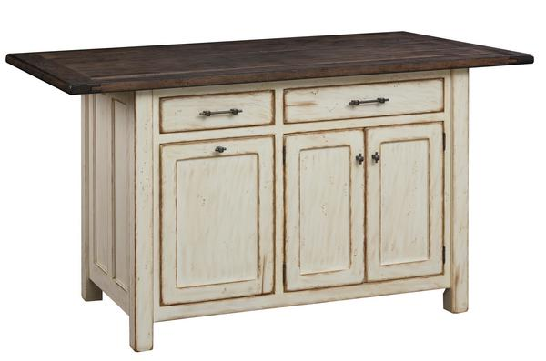 Large Amish Mission Kitchen Island