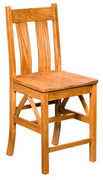 Amish Bostonian Stationary Bar Stool