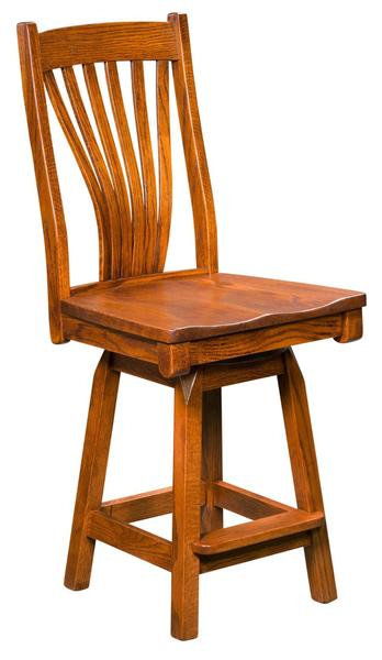 Amish Concord Bar Stool with Swivel