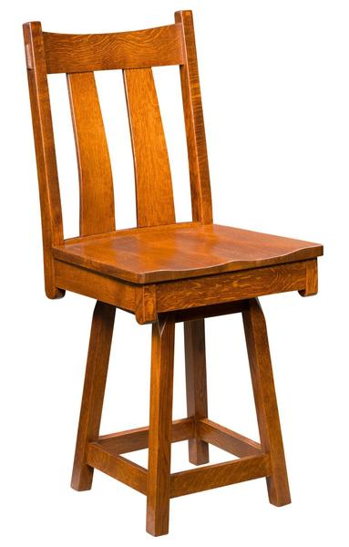 Amish Fremont Swivel Bar Stool