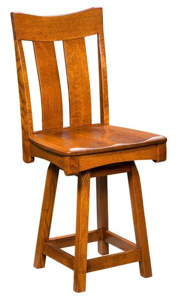 Amish Galena Mission Bar Stool with Swivel