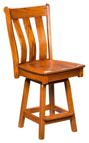 Amish Vancouver Swivel Bar Stool