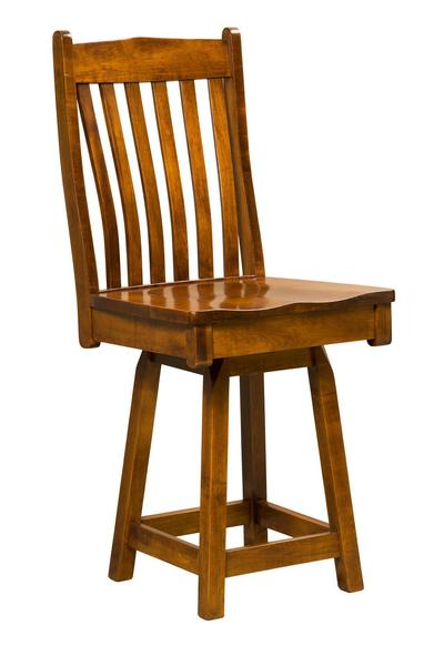 Amish Eagle Swivel Bar Stool