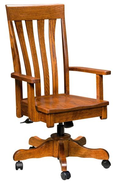 Amish Canterbury Desk Chair with Gas Lift