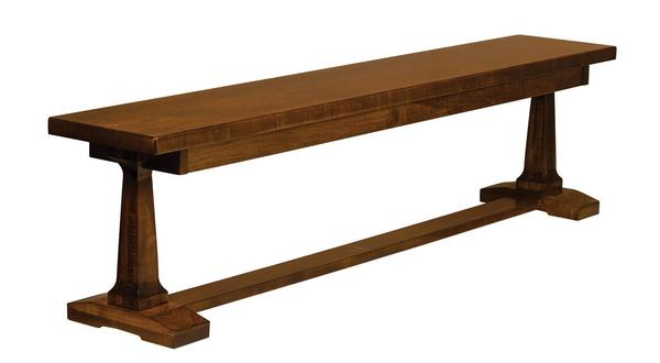 Amish Vienna Trestle Dining Bench
