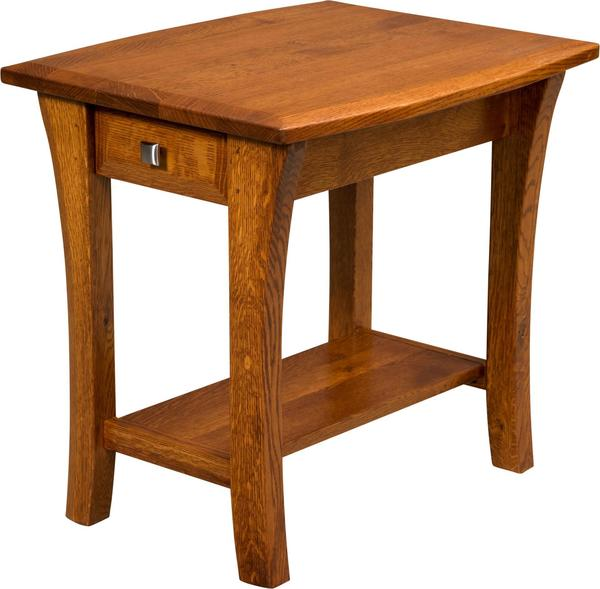Amish Ensinada End Table with One Drawer