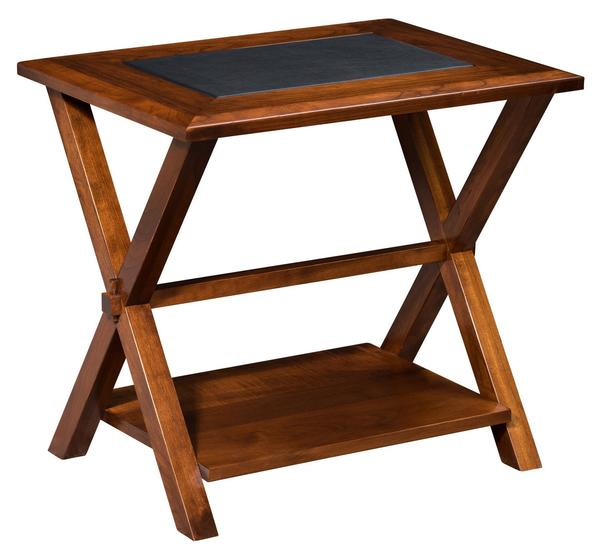 Amish Lexington End Table with Bottom Shelf