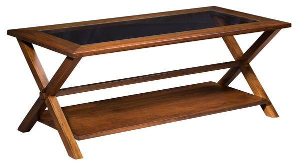 Amish Lexington Coffee Table with Bottom Shelf
