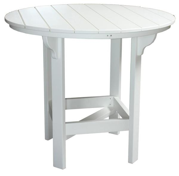 Amish Seaside 48 Inch Round Poly Composite Pub Table with Optional Ice Bowl Center