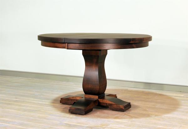 Ruff Sawn Tuscan Single Pedestal Dining Table