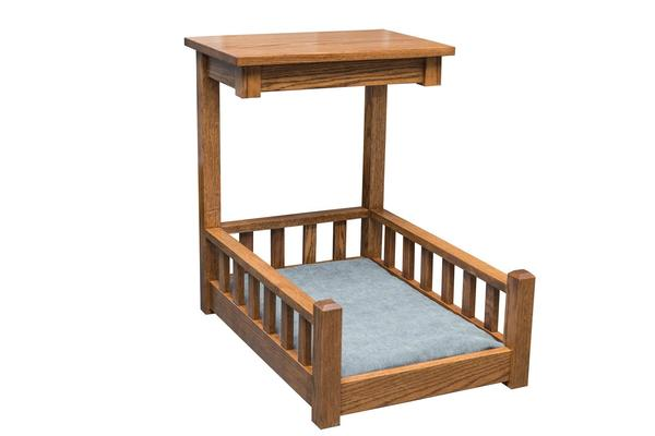 Amish Wood End Table Dog Bed
