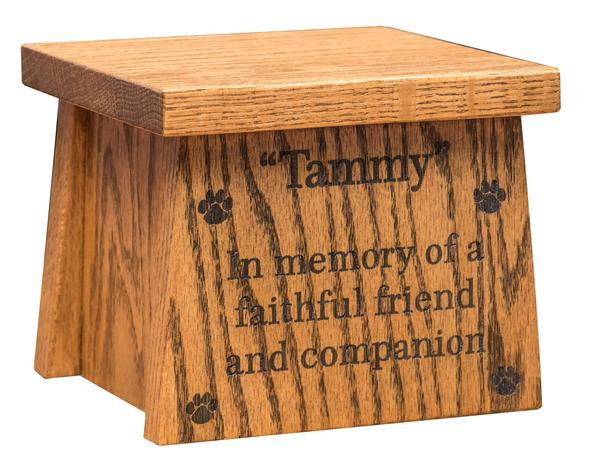 Amish Made Wooden Pet Urn