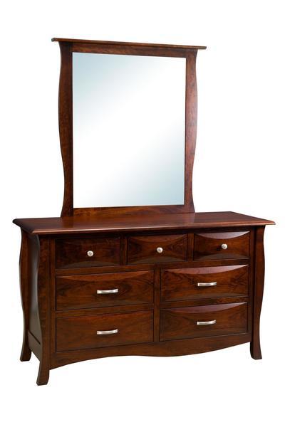 Amish Cayman Kids Seven Drawer Dresser with Mirror