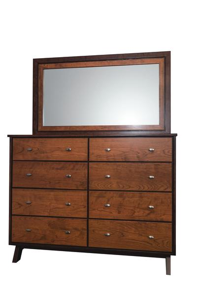 Amish Avon Lake Eight Drawer Dresser with Optional Mirror