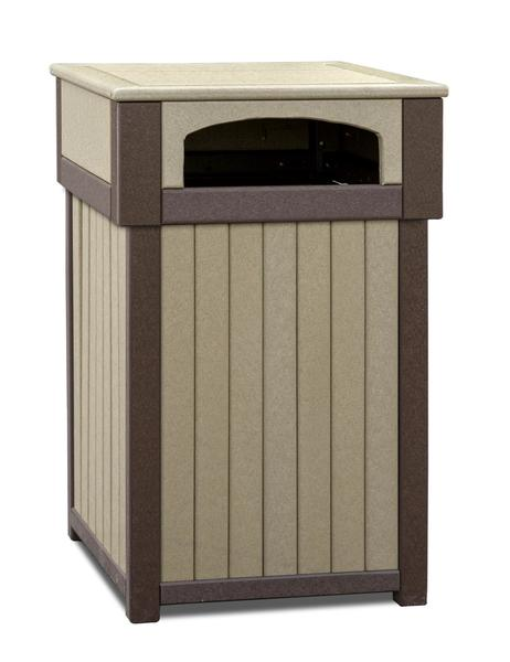 Amish Poly Lumber Commercial Trash Receptacle