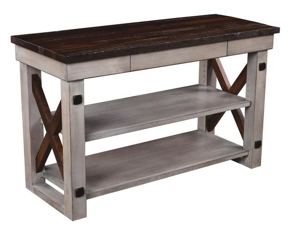 Deco River TV Stand with Reclaimed Barn Wood Top and Sides
