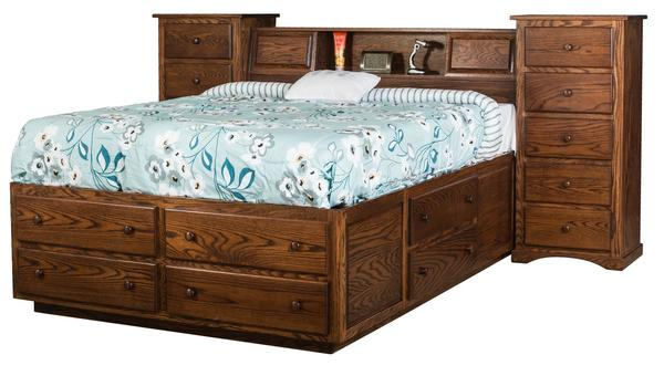 Amish Trail Wall Unit with Deluxe Platform Bed