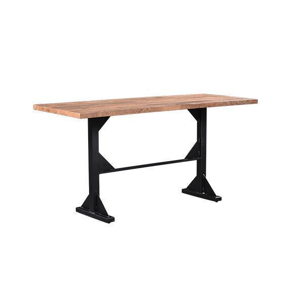 Reclaimed Barn Wood Portland Bar Table