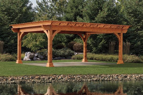 Kingston Cedar Pergola From Dutchcrafters Amish Furniture