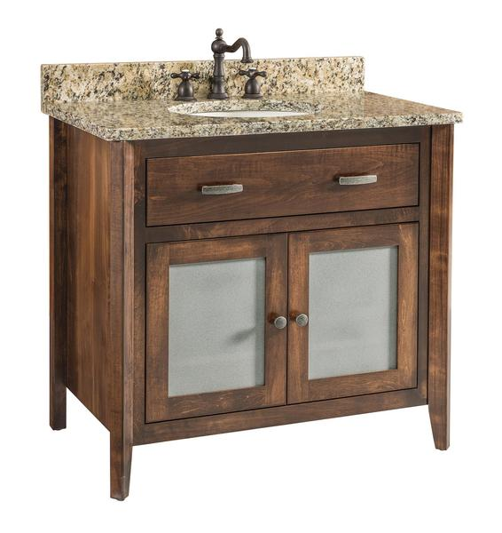 Quick Ship Garland - Medium Brown Maple Free Standing Bathroom Vanity