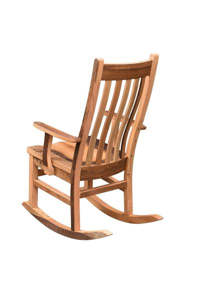 Amish Reclaimed Barnwood Mission Rocker with Arms