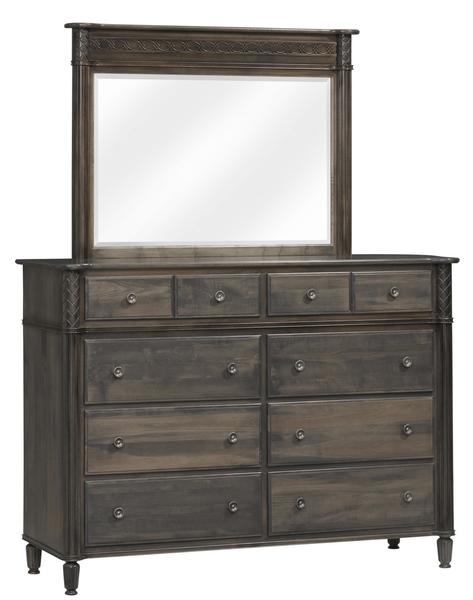 "Amish Eminence 66"" High Dresser with Optional Mirror"