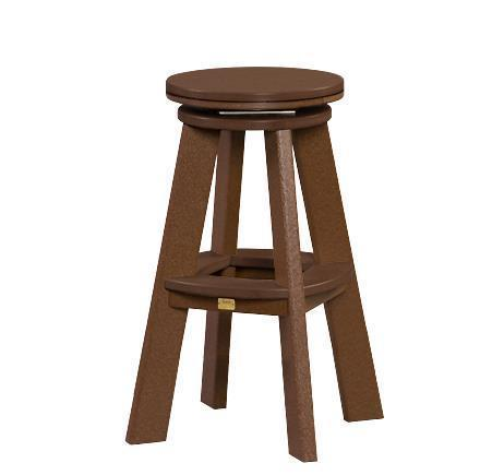 Amish Great Bay Poly Swivel Stool with Bar Height