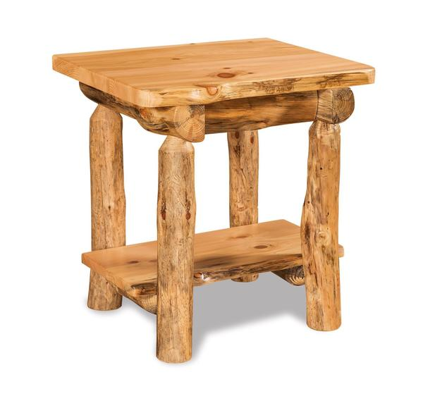 Rustic Log Cabin Small Night Stand From Dutchcrafters Amish Furniture