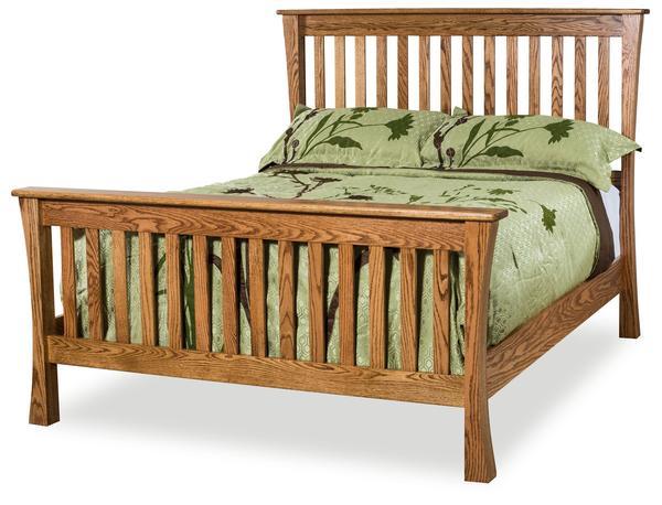 Amish Trestle Slat Bed