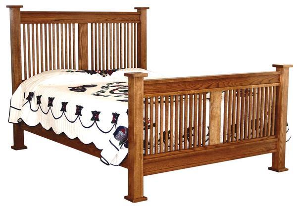 Amish American Mission Slat Bed