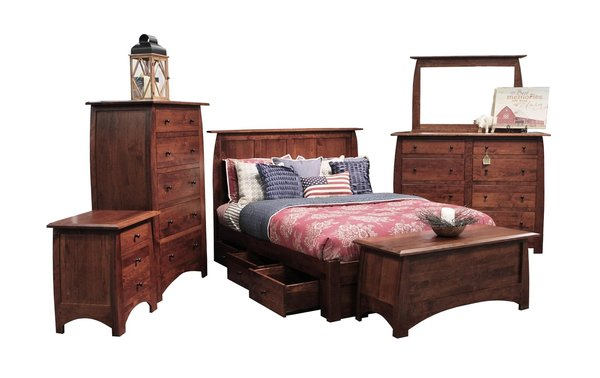 Bordeaux Six Piece Storage Bed Set