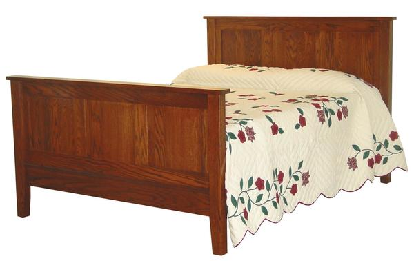Amish Flush Mission Panel Bed