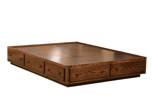 Amish Indian Trail Platform Bed (No Headboard)