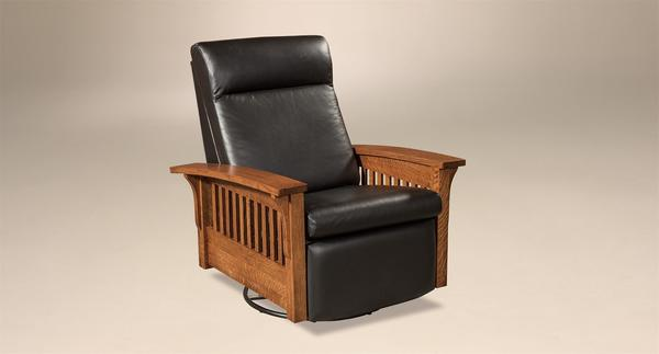 Amish Hoosier Glider Recliner with Swivel