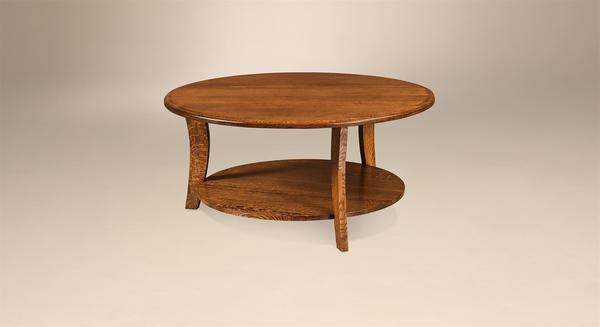 Amish Laurie Contemporary Round Coffee Table