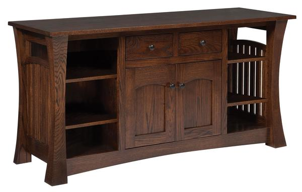 Amish Gateway TV Stand with 2 Drawers & 2 Doors