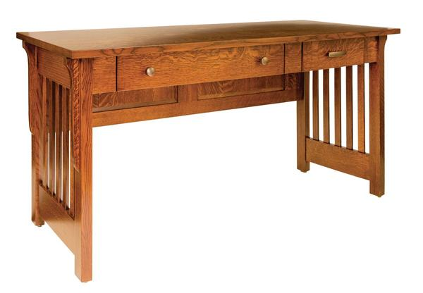 Amish Boston Mission Open Desk with One Pencil Drawer