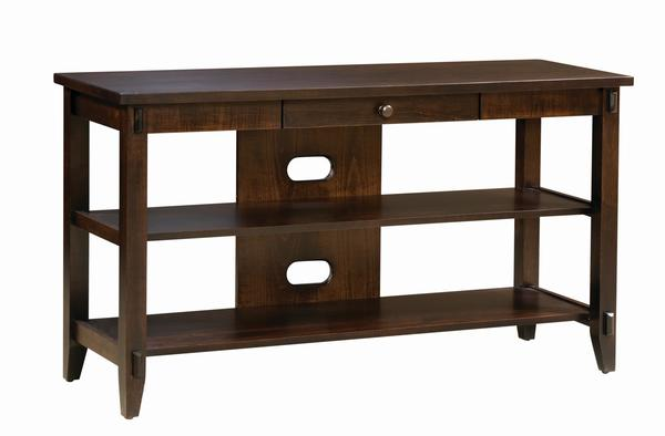 Amish Bungalow Open TV Stand