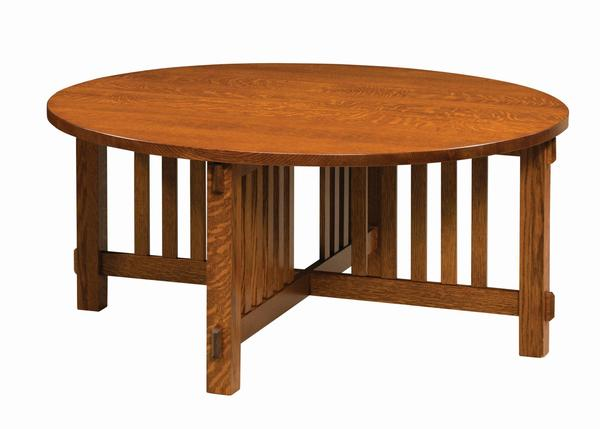 Amish Rio Mission Round Coffee Table
