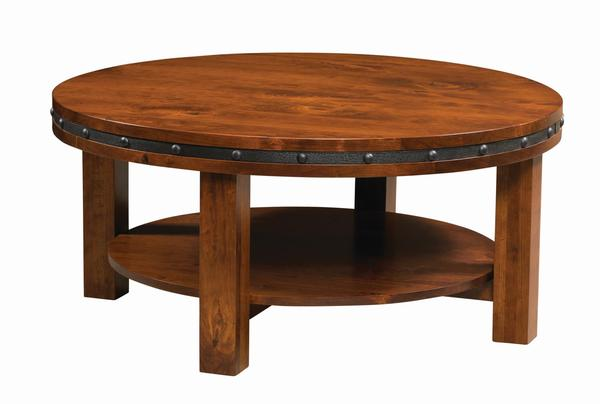 Amish Pasadena Round Coffee Table