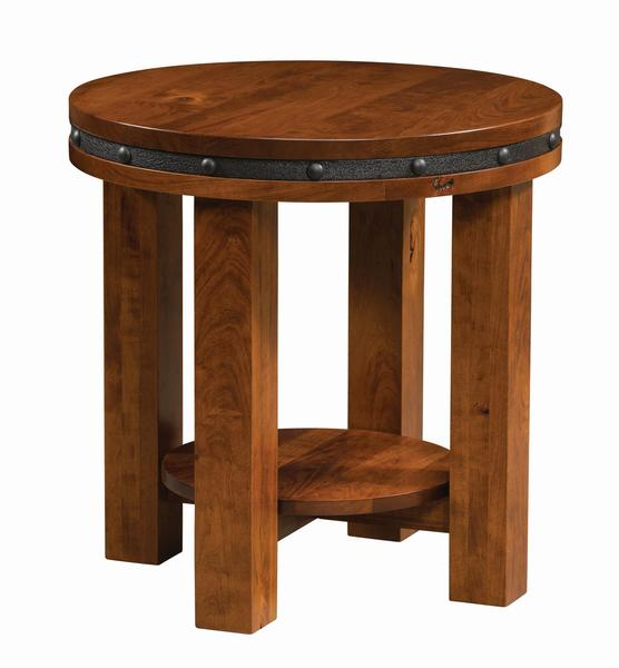 Amish Pasadena Round End Table