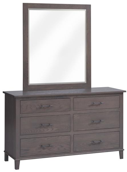 "Amish Hamilton 56"" Dresser with Optional Mirror"