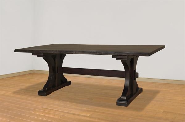 Ruff Sawn Live Edge Rustic Carlisle Dining Table From DutchCrafters - Carlisle dining table